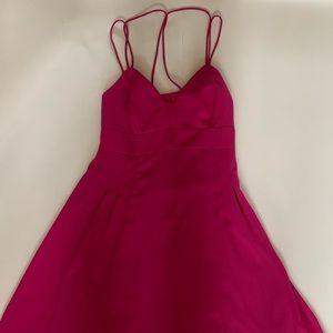 Mini purple dress!